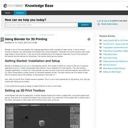 Using Blender for 3D Printing : Knowledge Base