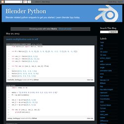 Blender Python: Matrix