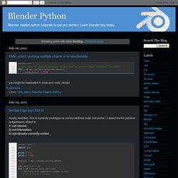 Blender Python: Sorting