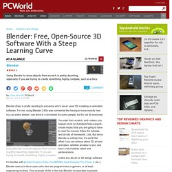 Blender: Free, Open-Source 3D Software With a Steep Learning Curve