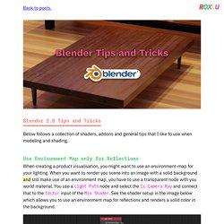 Blender 2.8 Tips and Tricks