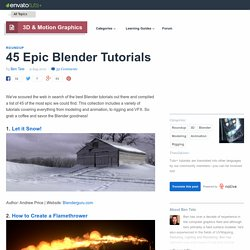 45 Epic Blender Tutorials - StumbleUpon