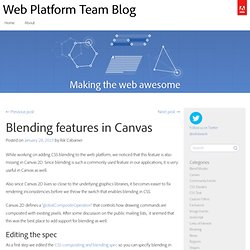 Blending features in Canvas