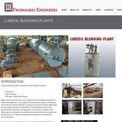 Lube Oil Blending Plant