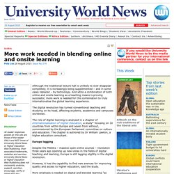 More work needed in blending online and onsite learning