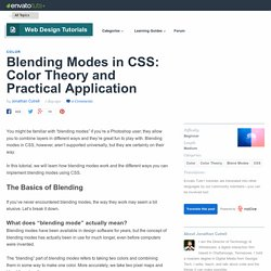 Blending Modes in CSS: Color Theory and Practical Application - Envato Tuts+ Web Design Tutorial
