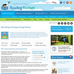 Blending and Segmenting Games