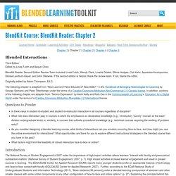 BlendKit - Interaction in Blendend Learning Settings (Chapt 2)