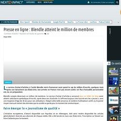 Presse en ligne : Blendle atteint le million de membres