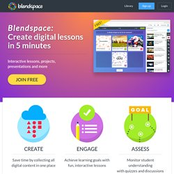 Blendspace (formerly Edcanvas) - Create lessons with digital content in 5 minutes