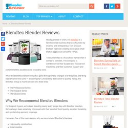 Blendtec Blender Reviews