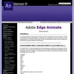 Formation à Edge Animate