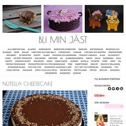 Bli min jäst - Nutella cheesecake