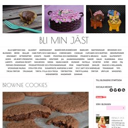 Bli min jäst - Brownie cookies