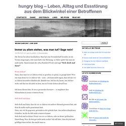 hungry blog – Leben, Alltag und Essstörung aus dem Blickwinkel einer Betroffenen