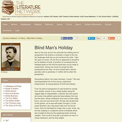 Blind Man's Holiday by O Henry