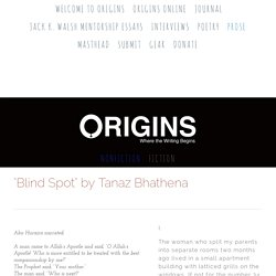 """Blind Spot"" by Tanaz Bhathena — Origins"
