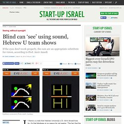 Blind can 'see' using sound, Hebrew U team shows