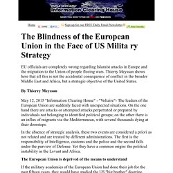 The Blindness of the European Union in the Face of US Military Strategy   :   Information Clearing House