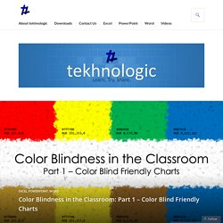 Color Blindness in the Classroom: Part 1 – Color Blind Friendly Charts – tekhnologic
