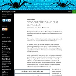 Spec Checking and Bug Blindness