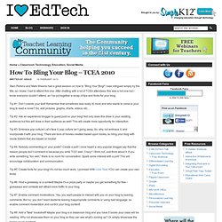 How To Bling Your Blog – TCEA 2010