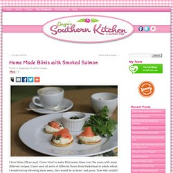 How to make Home Made Blinis with Smoked Salmon with recipes