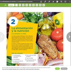 2. La alimentación y la nutrición - Biología y Geología 3 ESO Mec ANAYA ON