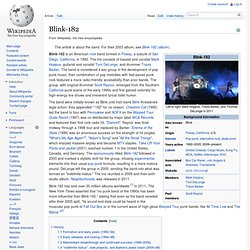 an analysis of the music and image of blink 182 a band formed in the 1990s Blink-182 biography on rolling stone, your go to source for blink-182 continued the unexpected 1990s journey of pop-punk into the the band formed in the san diego suburbs in 1991 when guitarist/vocalist tom delonge who'd first picked up a guitar as a teen at church camp.