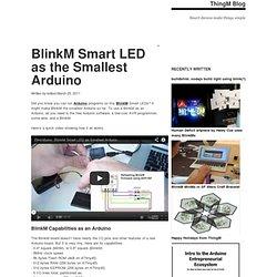 BlinkM Smart LED as the Smallest Arduino