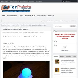 Blinky the one-eyed clock using Arduino -Arduino for Projects