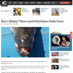 Bart's Blinky? Three-eyed Fish Raises Nuke Fears