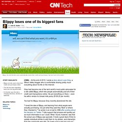Blippy loses one of its biggest fans