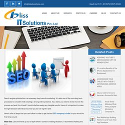 Hire Bliss IT Solutions for best Seo services in India?
