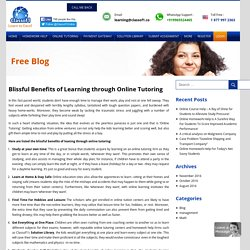 Blissful Benefits of Learning through Online Tutoring - classof1