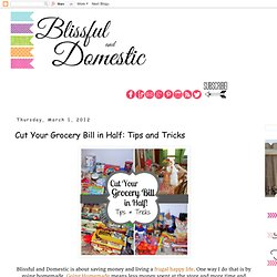 Blissful and Domestic: Grocery Shopping -cut it in half!-