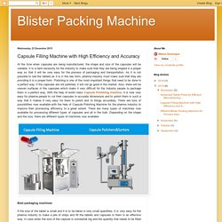 Blister Packing Machine: Capsule Filling Machine with High Efficiency and Accuracy