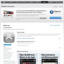 """Blitzer.de"" für iPhone 3G, iPhone 3GS, iPhone 4, iPhone 4S, iPad Wi-Fi + 3G, iPad 2 Wi-Fi + 3G und iPad Wi-Fi + 4G im iTunes App Store"