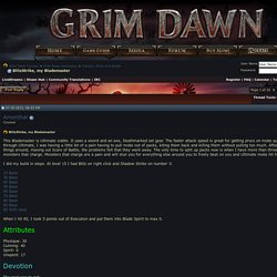 BlitzStrike, my Blademaster - Grim Dawn Forums