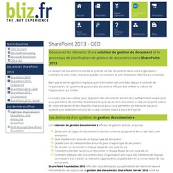 SharePoint - SharePoint 2013 - GED
