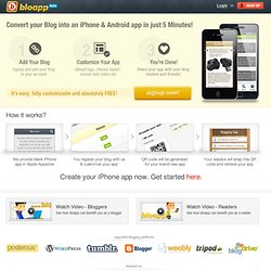 Bloggers, create your own iPhone app for free