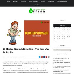 11 Bloated Stomach Remedies - The Easy Way To Get Rid