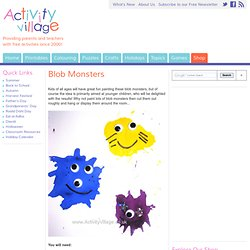 Blob Monsters - Monster Crafts For Kids