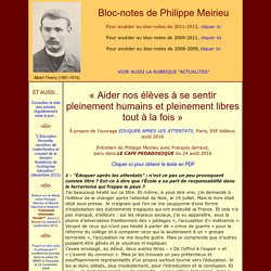 Bloc-notes de Philippe Meirieu