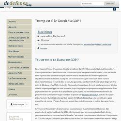 Trump est-il le Daesh du GOP?