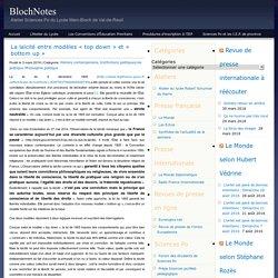 BlochNotes » Archives du Blog » La laïcité entre modèles « top down » et « bottom up »