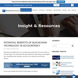 Potential Benefits of Blockchain Technology in Accountancy
