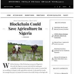 Blockchain Could Save Agriculture In Nigeria - BTC Nigeria