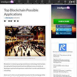 Top Blockchain Possible Applications