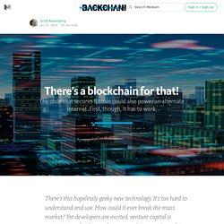 How Bitcoin's Blockchain Could Power an Alternate Internet — Backchannel